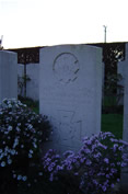 Lt Col Anderson VC Buried Peronne Rd Cem